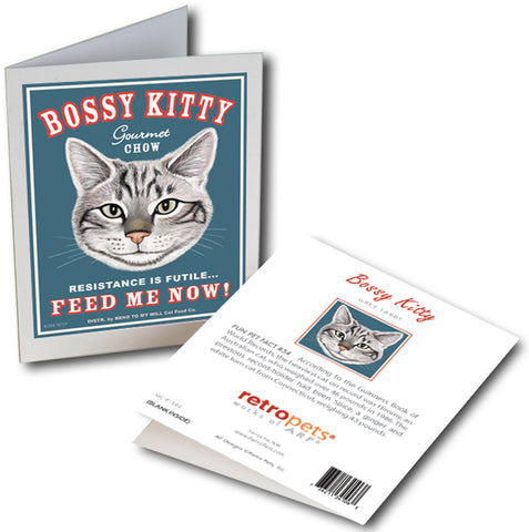 "Cat Art ""Bossy Kitty"" 6 Small Greeting Cards by Krista Brooks"