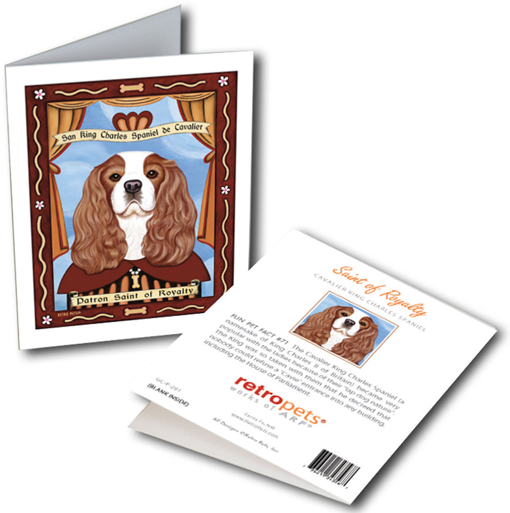 "Cavalier King Charles Spaniel Art ""Cavalier Saint"" 6 Small Greeting Cards by Krista Brooks"