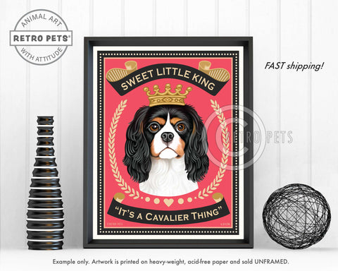 "Cavalier King Charles Spaniel ""Sweet Little King"" Art Print by Krista Brooks"