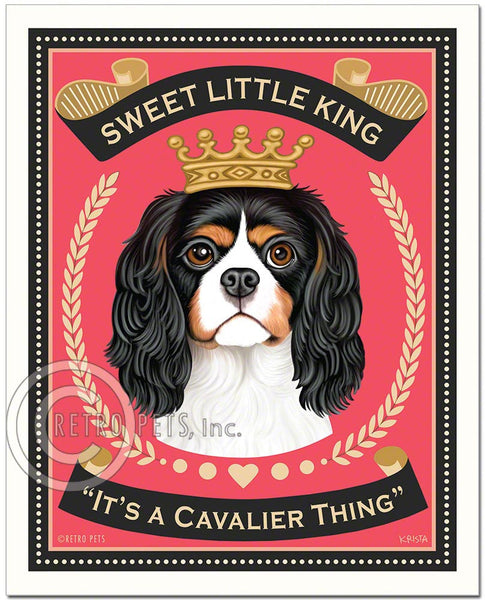 "Cavalier King Charles Spaniel Art ""Sweet Little King"" Art Print by Krista Brooks"