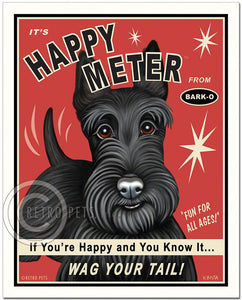 "Scottish Terrier Art ""Happy Meter"" Art Print by Krista Brooks"