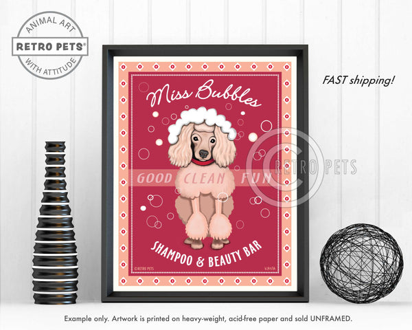 "Poodle Art ""Miss Bubbles"" Art Print by Krista Brooks"