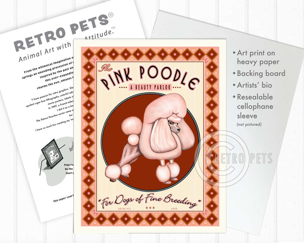 "Poodle Art ""Pink Poodle Beauty Parlor"" Art Print by Krista Brooks"