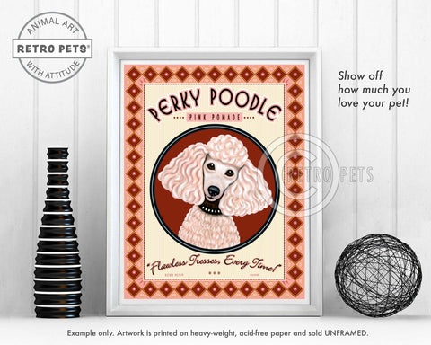 "Poodle Art ""Perky Poodle Pommade"" Art Print by Krista Brooks"