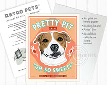 "Load image into Gallery viewer, Pitbull Terrier Art ""Pretty Pit Candy"" Art Print by Krista Brooks"