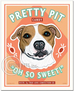"Pit Bull Art ""Pretty Pit Candy"" Art Print by Krista Brooks"