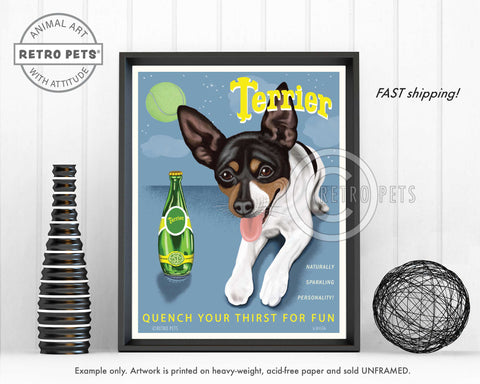 "Rat Terrier ""Terrier"" Art Print by Krista Brooks"