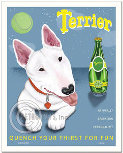 "Bull Terrier Art ""Terrier"" Art Print by Krista Brooks"