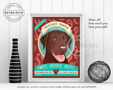 "Labrador Retriever Art ""Chocolate Charmer"" Art Print by Krista Brooks"