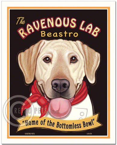 "Yellow Labrador Art ""Ravenous Lab"" Art Print by Krista Brooks"