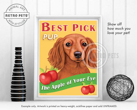 "Dachshund Art ""Best Pick Pup"" Art Print by Krista Brooks"