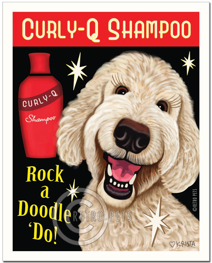 "Cream Doodle Art ""Rock a Doodle 'Do!"" Doodle Art Print by Krista Brooks"