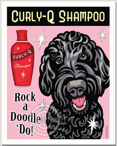 "Black Doodle Art ""Rock a Doodle 'Do!"" Doodle Art Print by Krista Brooks"