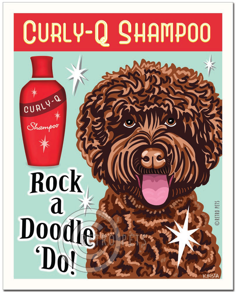 "Chocolate Doodle Art ""Rock a Doodle 'Do!"" Doodle Art Print by Krista Brooks"