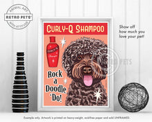 "Load image into Gallery viewer, Labradoodle Art ""Rock a Doodle 'Do!"" Lavender Doodle Art Print by Krista Brooks"