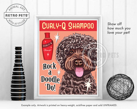 "Lavender Labradoodle Art ""Rock a Doodle 'Do!"" Doodle Art Print by Krista Brooks"