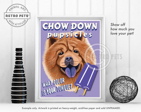 "Chow Chow Art ""What Color Is Your Tongue?"" Art Print by Krista Brooks"