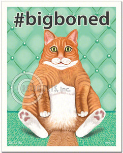 "Cat Art ""#bigboned"" Art Print by Krista Brooks"