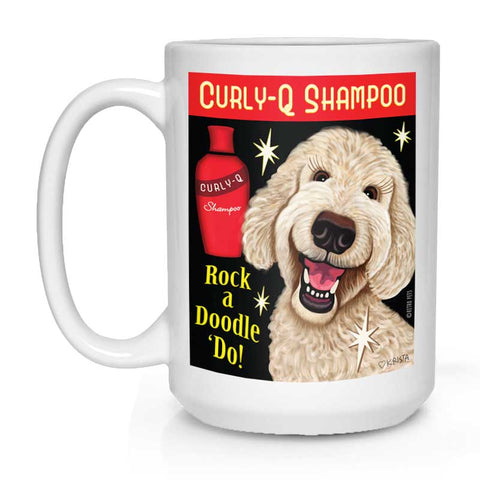 Labradoodle Coffee Mug 15 oz. Personalize with Your Doodle's Name!