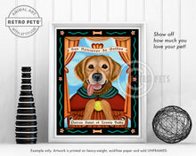 "Load image into Gallery viewer, Golden Retriever Art ""Patron Saint of Tennis Balls"" Art Print by Krista Brooks"