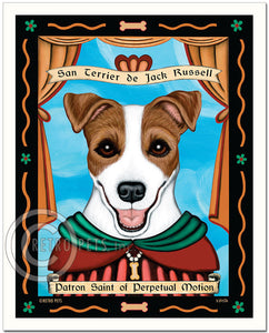 "Jack Russell Art ""Patron Saint of Perpetual Motion"" Art Print by Krista Brooks"