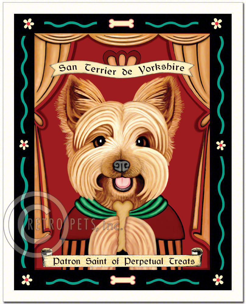 "Yorkshire Terrier Art ""Saint of Perpetual Treats"" Art Print by Krista Brooks"