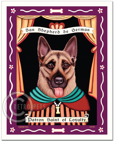 "German Shepherd Art ""Patron Saint of Loyalty"" Art Print by Krista Brooks"