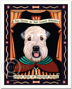 "Wheaten Terrier Art ""Saint of Perpetual Kisses"" Patron Pooch Art Print by Krista Brooks"