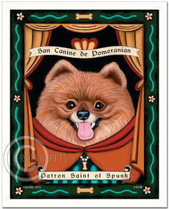 "Pomeranian Art ""Patron Saint of Spunk"" Art Print by Krista Brooks"