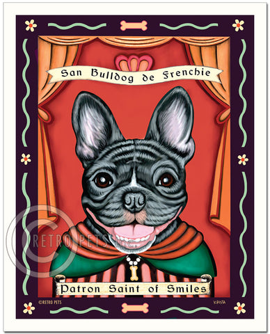 "French Bulldog Art ""Patron Saint of Smiles"" Art Print by Krista Brooks"
