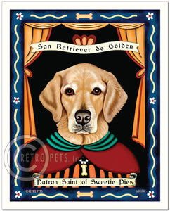 "Golden Retriever Art ""Patron Saint of Sweetie Pies"" Art Print by Krista Brooks"