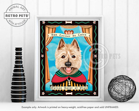 "Cairn Terrier Art ""Patron Saint of Play"" Art Print by Krista Brooks"