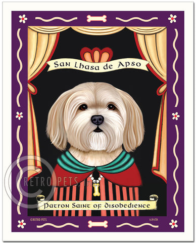 "Lhasa Apso Art ""Patron Saint of Disobedience"" Art Print by Krista Brooks"