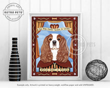"Load image into Gallery viewer, Cavalier King Charles Spaniel Art ""Patron Saint of Royalty"" Art Print by Krista Brooks"