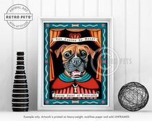 "Load image into Gallery viewer, Boxer Art ""Patron Saint of Fisticuffs"" Art Print by Krista Brooks"