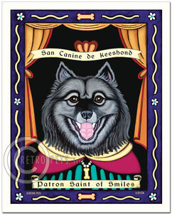 "Keeshond Art ""Patron Saint of Smiles"" Art Print by Krista Brooks"
