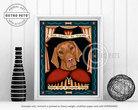"Vizsla Art ""Saint of Perpetual Motion"" Art Print by Krista Brooks"