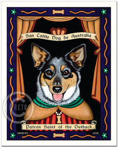 "Australian Cattle Dog Art ""Patron Saint of the Outback"" Art Print by Krista Brooks"