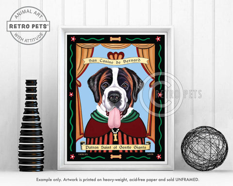 "Saint Bernard Art ""Saint of Gentle Giants"" Art Print by Krista Brooks"