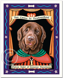 "Newfoundland Art - Brown ""Patron Saint of Immense Sweetness"" Art Print by Krista Brooks"