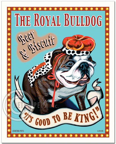 "Bulldog Art ""The Royal Bulldog"" Art Print by Krista Brooks"