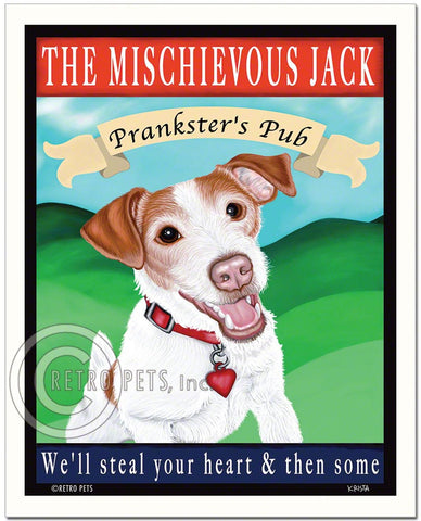 "Jack Russell Terrier Art ""The Mischievous Jack"" Art Print by Krista Brooks"