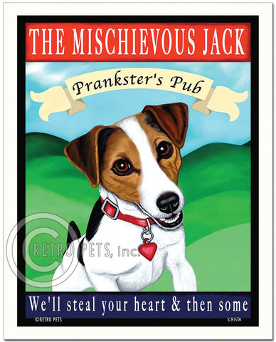 "Jack Russell Terrier - Tri-color ""The Mischievous Jack"" Art Print by Krista Brooks"