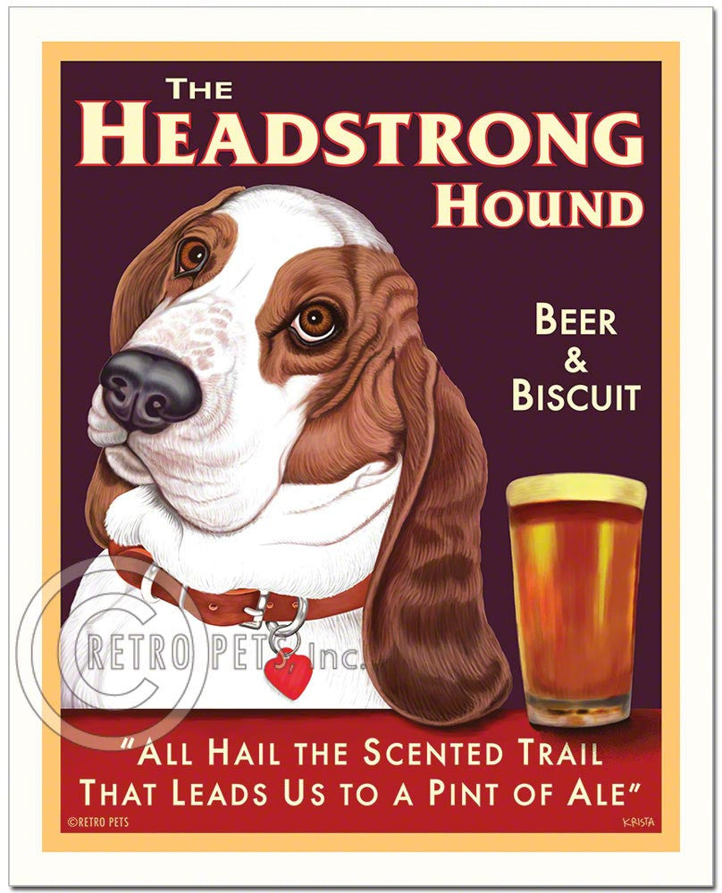"Basset Hound Art ""The Headstrong Hound"" Art Print by Krista Brooks"