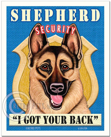 "German Shepherd Art ""Shepherd Security"" Art Print by Krista Brooks"