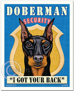 "Doberman Pinscher Art ""Doberman Security"" Art Print by Krista Brooks"