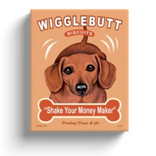 "Load image into Gallery viewer, Dachshund Art ""Wigglebutt Biscuits"" - Dachsund Wall Art"