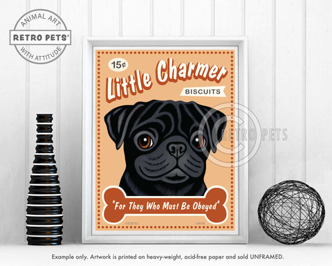 "Pug Art ""Little Charmer"" Art Print by Krista Brooks"