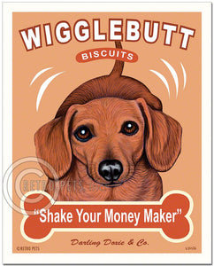 "Dachshund Art ""Wigglebutt Biscuits"" Art Print by Krista Brooks"