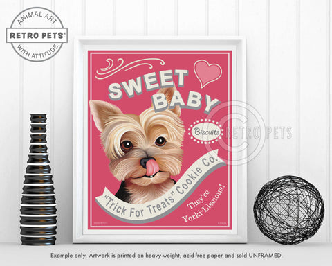 "Yorkshire Terrier Art ""Sweet Baby"" Art Print by Krista Brooks"